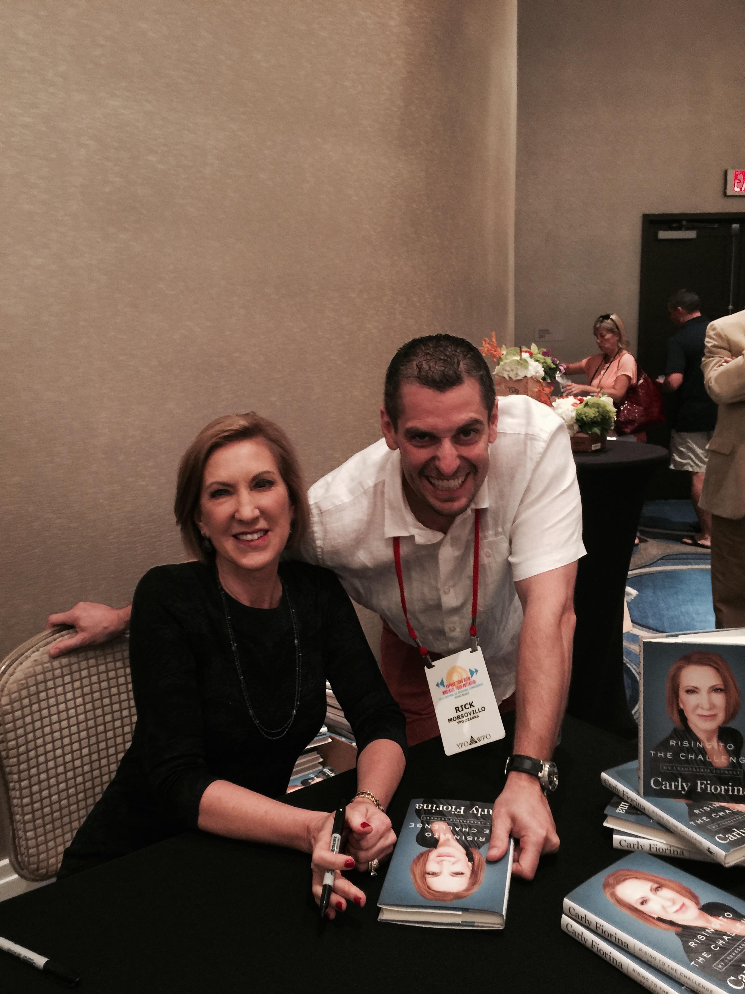 Rick Mosovillo with Carly Fiorina